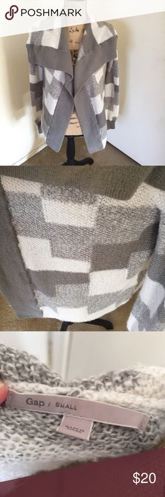 {GAP Sweater} So cute and unique. Very soft. Light weight. Pre loved but some wear but no rips or stains. Bundle and save GAP Sweaters