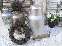 alte Milchkanne Vorratsdose Vase shabby chic