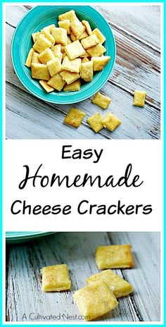 If you like Cheeze-Its (or any type of cheese crackers) you will love this recipe! Only 5 ingredients!