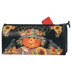 MailWraps Magnetic Mailbox Cover - Harvest Scarecrow