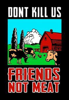 Friends not Meat von Henri Banks auf DaWanda.com