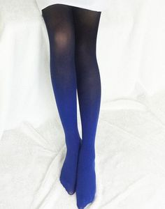 Dyed Gradients Opaque Tights 120D Women's Girls' Pantyhose Candy Color Colorful Hand Dye Thick Stockings Pantyhose Collant WL003