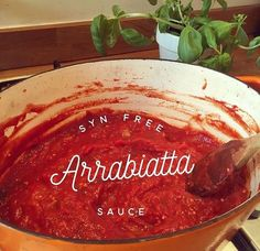 so yummy and perfect for pasta and a great base for pasta bake. Arrabbiata which means a. Pasta Sauce Recipes, Tomato Sauce Recipe, Spicy Pasta, Tomato Pasta Sauce, Spicy Tomato Sauce, Slimming World Pasta, Slimming World Recipes, Arrabiata Sauce
