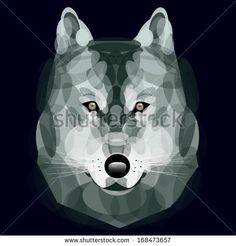 wolf eyes, Vector, wolf head, illustration, abstract, animal style, Geometric wolf's face, Graphic wolf head front view, zoo, nature, Good i...