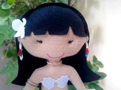 Boneca Sereia em Feltro-India*Sereia*Iara