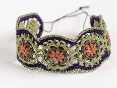 Crochet Bracelet and Headband Pattern PDF by OutstandingCrochet