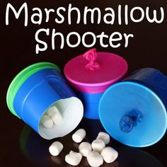 """How to Host an """"Amazing Race"""" Birthday Party at Home! How to make a marshmallow shooter Summer Activities, Craft Activities, Camping Activities, Toddler Activities, Fun Games, Games For Kids, Group Games, Marshmallow Shooter, Marshmallow Games"""