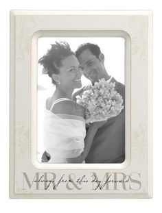 5x7 MR & Mrs. Off-white Picture Frame  http://www.giftamillion.com/5x7-mr-mrs-off-white-picture-frame.html