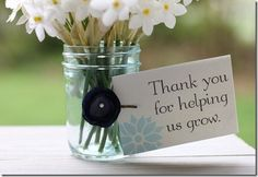 """""""Thank you for helping us grow"""" cards for Teacher Appreciation plants"""