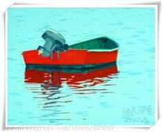 Cheap boat leisure, Buy Quality boat painting designs directly from China paintings matisse Suppliers: Red boat in the Green lake Oil painting on canvas hight Quality Hand-painted Painting Home Decoration Home Decor Wall art Boat Painting, Oil Painting On Canvas, Art Thomas, Green Lake, Cheap Paintings, Small Boats, Old Master, Home Decor Wall Art, American Artists