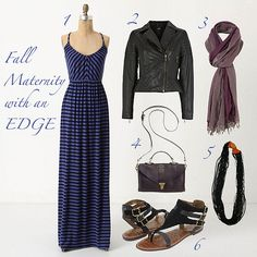 Fall Maternity Fashion. Could also work for spring and summer if you exclude the jacket and scarf.