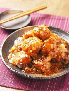 鶏唐揚げ甘酢ねぎソース11