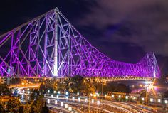 The Howrah is the one of the largest cantilever bridges in the world, and the largest in India.