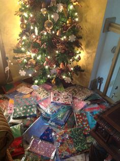 Pillowcases just waiting under the tree for delivery!