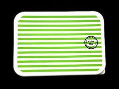 Green and White Stripes http://ebay.to/2f5ltIO #bento #ebay #lunch #bentobox #lunchbox #green #white #stripes #box #container #case #kitchen