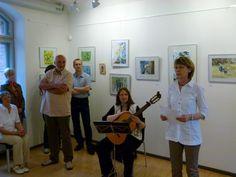 Faszination Aquarell – Unsere Ausstellung in Schwerin   Eröffnung durch Frau Hamann und Gitarrenmusik von Frau Göritz (c) Frank Koebsch