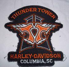 Harley Davidson Thunder Tower Dealership Patch Columbia South Carolina Harley Davidson Gear, Columbia South Carolina, Thunder, Man Cave, Patches, Tower, Bike, Bicycle, Rook