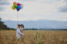 Engagement Monica + Daniel Balloons
