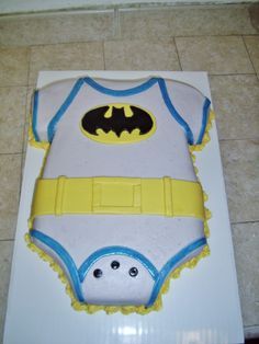But obviously NOT batman. Baby Shower Cakes, Baby Shower Parties, Baby Shower Themes, Baby Boy Shower, Baby Shower Gifts, Shower Ideas, Shower Party, Superhero Baby Shower, Superhero Birthday Cake