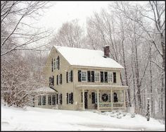 Saltbox house, Cornwall, NY  This charming and distinctive home has always pleased me, and in the snowfall, it reminded me of an old Currier and Ives print.