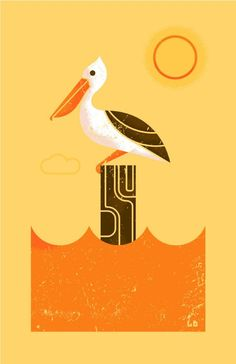 A wonderful bird is the pelican it's beak can hold more tha it's belly can!