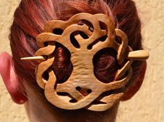 Tree of Life, Wooden Shawl Pin, Mom, Wood Carving, Wife Gift, Hair Stick, Hair Barrette, Haarstab, Natural Wooden hair accessories