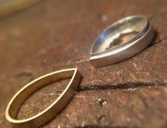 Pendentif argent-or, battage pico et morganite poire
