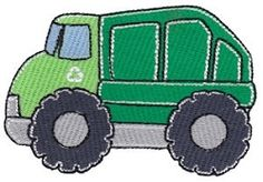Recycle Truck Filled - 4X4! | Trucks | Machine Embroidery Designs | SWAKembroidery.com Bunnycup Embroidery