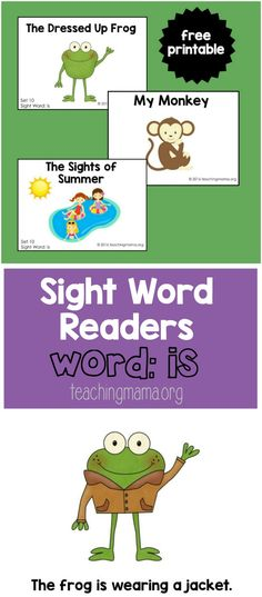 """Sight Word Readers for the Word """"Is"""""""