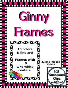 Ginny Digi-Frames $ https://www.teacherspayteachers.com/Product/Ginny-Digi-Frames-1771955
