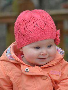 Ravelry: Coralline Flower Hat pattern by Tatsiana Matsiuk Crochet Hat Pattern Kids, Crochet Baby Hats, Baby Knitting Patterns, Hat Patterns, Free Pattern, Knitted Animals, Knitted Bags, Ravelry, Flower Hats