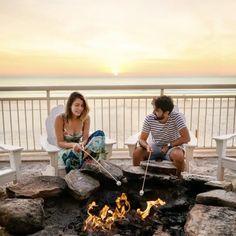 #Regram via @shoresresort Beach Kids, Beach Fun, Summer Beach, Daytona Beach Hotels, Romantic Beach, Hotel Guest, Pink Sky, Florida Beaches, Resort Spa