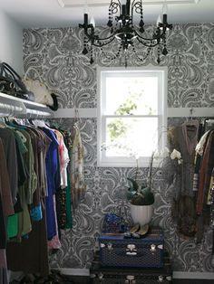 new ideas for white closet bedroom hanging clothes Cole And Son Wallpaper, Of Wallpaper, Closet Wallpaper, Paisley Wallpaper, Beautiful Wallpaper, Graphic Wallpaper, Pattern Wallpaper, Dressing Room Closet, Closet Bedroom