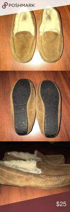 AUTHENTIC ugg slippers Great condition just been in storage UGG slippers light brown size says USA 4 but fits up to a 6 UGG Shoes