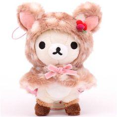 deer Rilakkuma white bear plush charm San-X