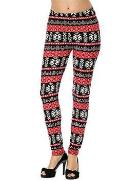 Leggings4u Women's Nordic Snowflakes Tribal Fashion Leggings