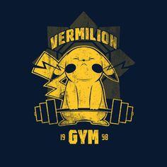 #Nintendo's #Pokemon: #Pikachu gym t-shirt.