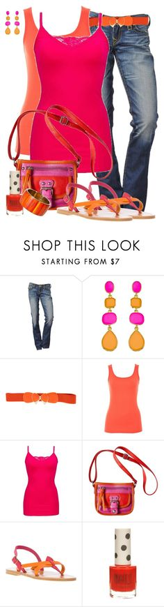 """Pink And Orange (2)"" by lmm2nd ❤ liked on Polyvore featuring Kenneth Jay Lane, A