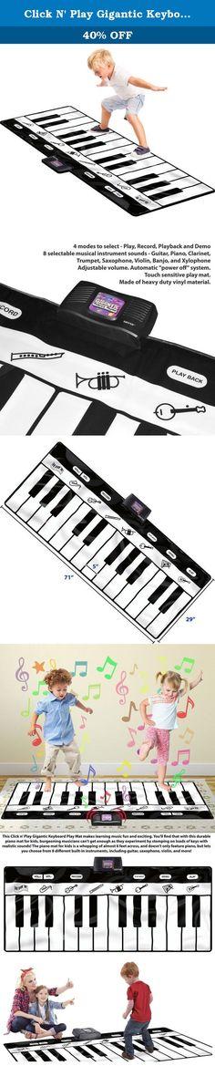 2af23638e1b Click N' Play Gigantic Keyboard Play Mat, 24 Keys Piano Mat, 8 Selectable