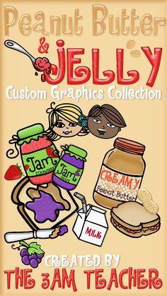 Fun Peanut Butter & Jelly Clip Art Set!!!