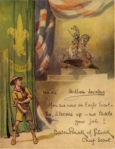 You are now an Eagle Scout - Signed by Baden Powell