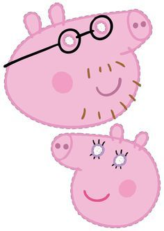Peppa pig printable masks!