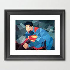 DC Comics Superman Man of Steel Framed Art Print