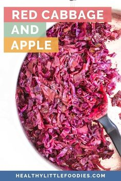 Learn how to make this simple braised cabbage and apple recipe. A perfect side dish for your Thanksgiving or Christmas dinner but can be paired with load of other dishes (suggestions in post). Red cabbage, apples and balsamic vinegar are cooked together to make, this sweet and sour side dish the whole family will love.
