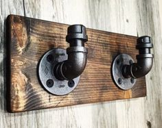 Rustic/Industrial Handmade Toilet Paper Holder with by Lulight