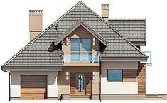 Projekt domu Opałek III N 134,43 m2 - koszt budowy 224 tys. zł - EXTRADOM Home Fashion, Villa, Cabin, House Design, Mansions, House Styles, Drawing, Home Decor, Architecture