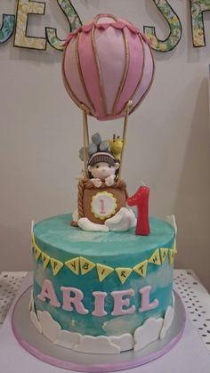 Love my gal's 1st bday hot air balloon cake