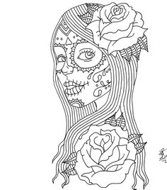 day of the dead coloring pages | Day of the Dead Girl by itsANocean