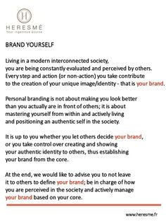 Your personal brand comes from your core