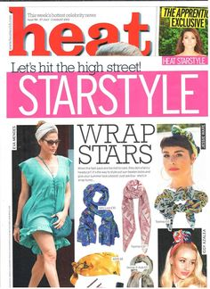 Our Exotic Wilderness Scarf for Aussie in Heat Magazine!